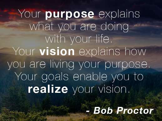 Your Purpose Explains What You Are Doing With Your Life. Your Vision  Explains How You